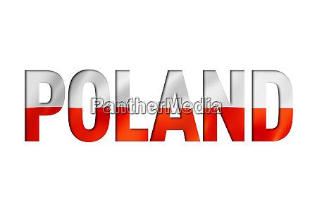 poland flag text font