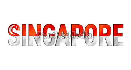 singapore flag text font