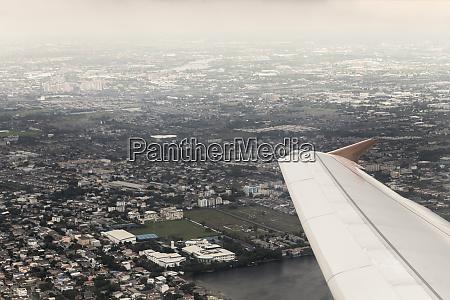 flight over bangkok in thailand nice