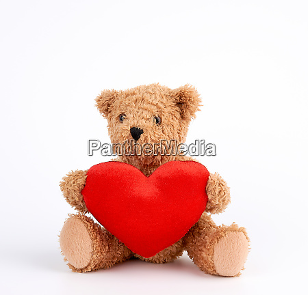 cute brown teddy bear holding a