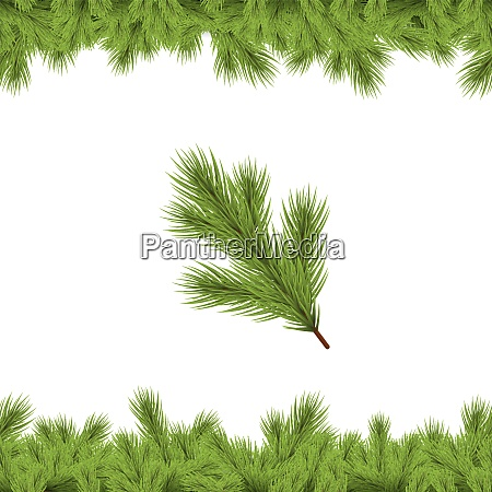 seamless fir branch on lower and
