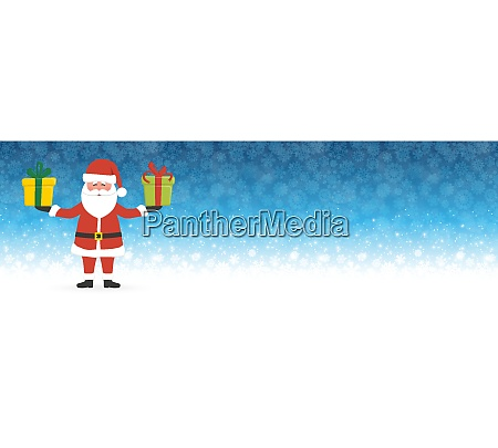 santa claus holding christmas gifts