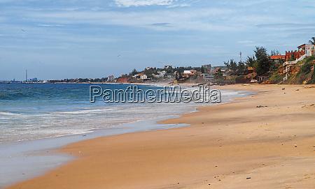 beach of atlantic sea senegal