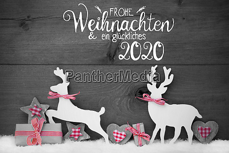 gift deer heart snow glueckliches 2020