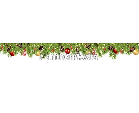 seamless fir branches and cones concept