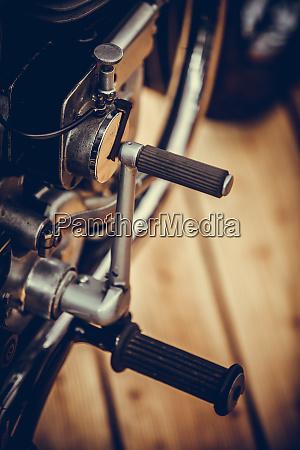 vintage motorcycle kick start lever