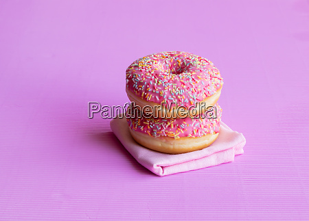 creative pattern of donut covered with