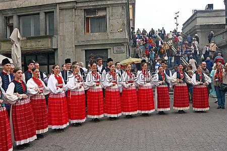 choir of the folklore ensemble