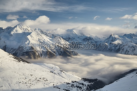 winter in the alps paradiski