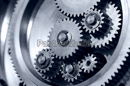 gears of a locking mechanism