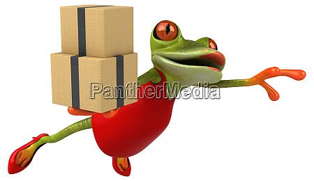 fun frog 3d illustration