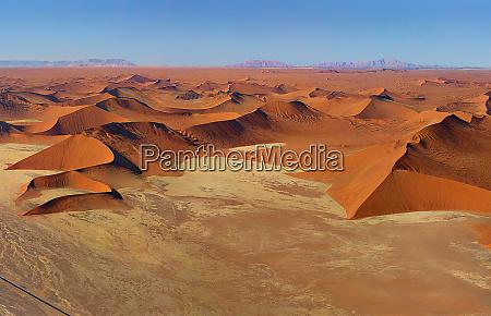 aerial view of endless namibia desert