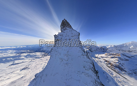 scenic aerial view of the matterhorn