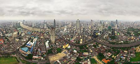 panoramic aerial view of bangkok thailand