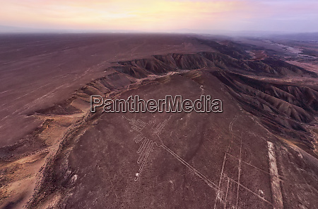 aerial view of nazca lines during