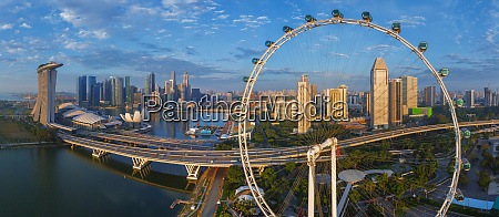 aerial view of the singapore flyer