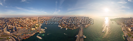 panoramic aerial view of istanbul turkey