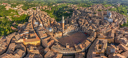 aerial view of siena historical town