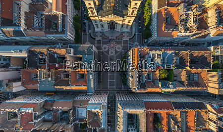 aerial view above of st stephens