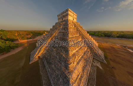 aerial view of the el castillo