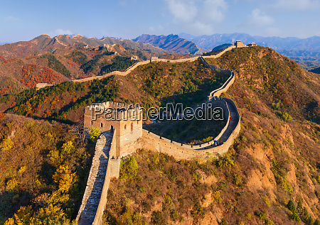 aerial view of tourist visiting the
