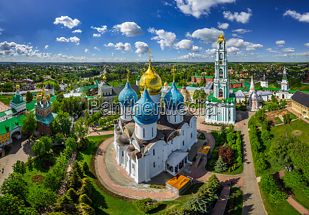aerial view of dormition cathedral at