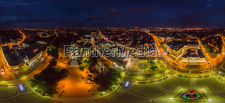 aerial view of kaliningrad cityscape during
