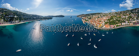 panoramic aerial view of villefranche sur