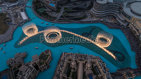 aerial view of the illuminated dubai