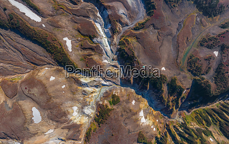 aerial view of death valley kamchatka
