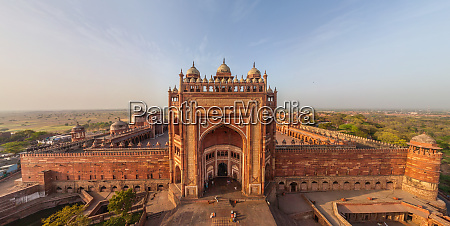 aerial view of fatehpur sikri old