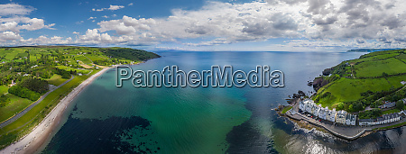 panoramic aerial view of atlantic coast