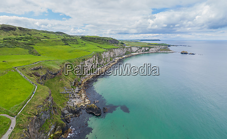 aerial view of atlantic coast of