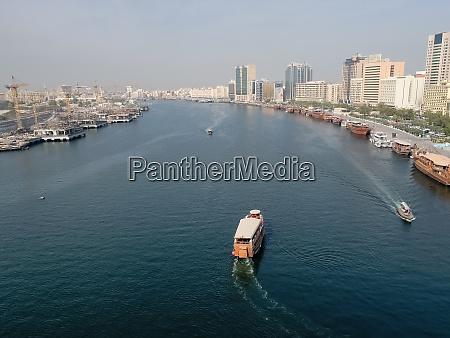 aerial view of a wooden dhow