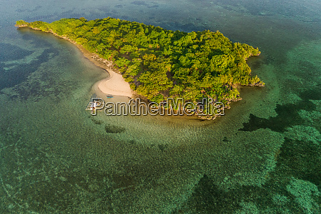 aerial view of sulpa island in