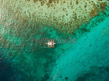 aerial view of traditional filipino fishing