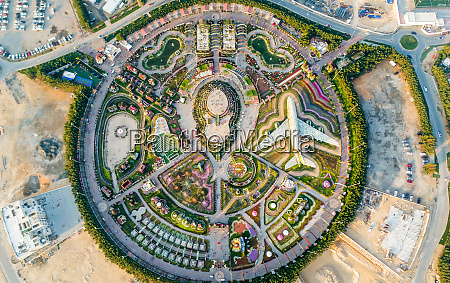 aerial view of the unusual colorful