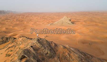 aerial view of a man on
