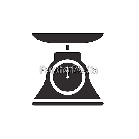 commercial weight scale icon for stores