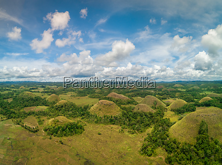 aerial view of chocolate hills complex