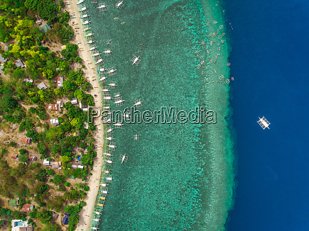 aerial view of beach buildings filipino