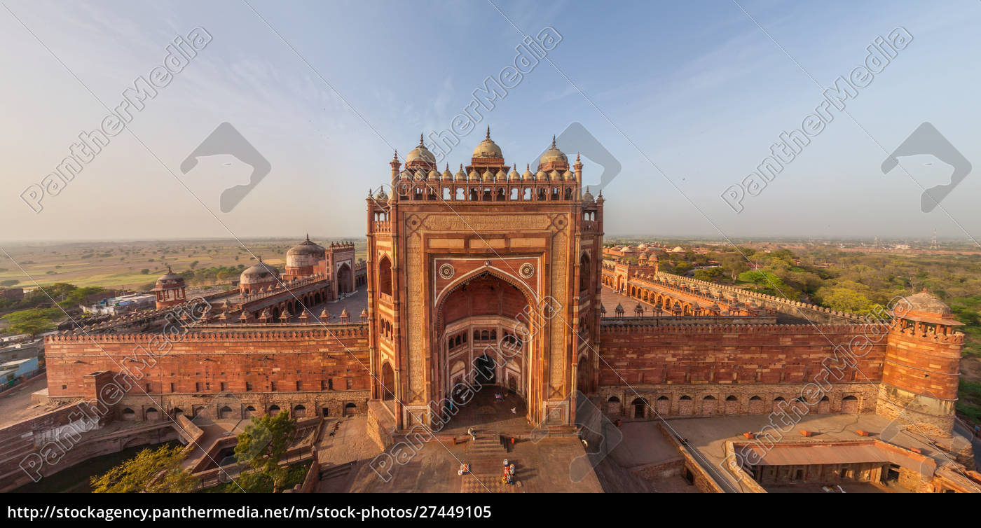 aerial, view, of, fatehpur, sikri, old - 27449105