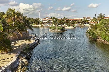 paradisiac residential area in riviera maya