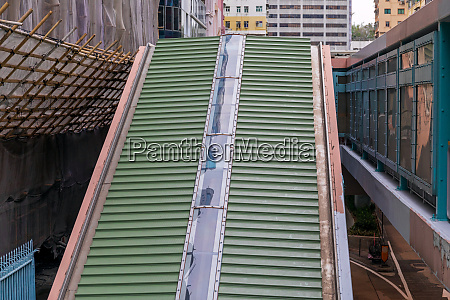 covered escalator roof