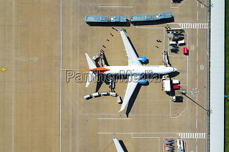 aerial view of airplane at leeds
