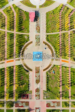 aerial view of lovers park nur