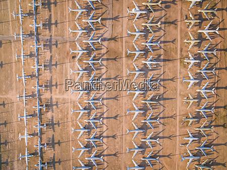 aerial view of davis monthan boneyard