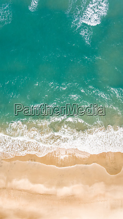 aerial view of an empty beach