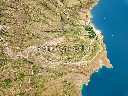 aerial view of laguna de quilotoa