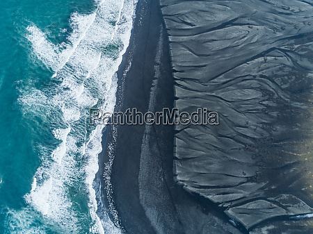 aerial abstract view of diamond beach